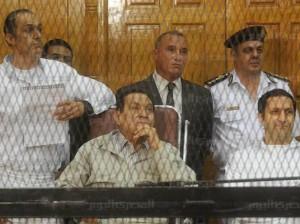 مبارك في القفص