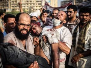 صورة من فض اعتصام رابعة