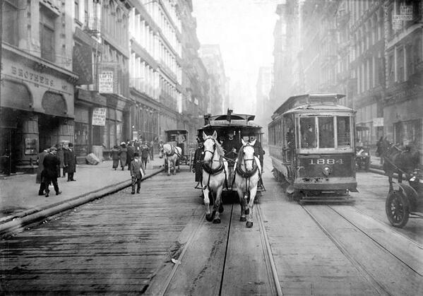 آخر لقطات لعربات الخيول بجوار التارم - نيويورك 1917