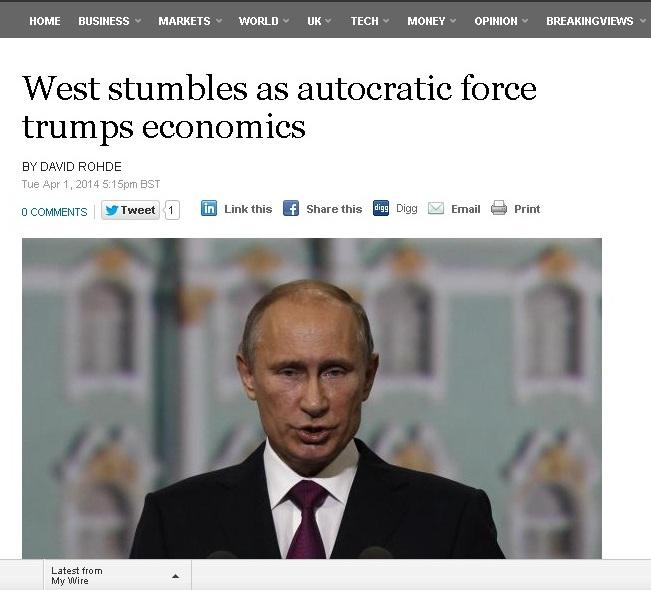تساؤلات غربية حول جدوى العقوبات الاقتصادية في مواجهة بوتين ومستبدي الشرق الأوسط