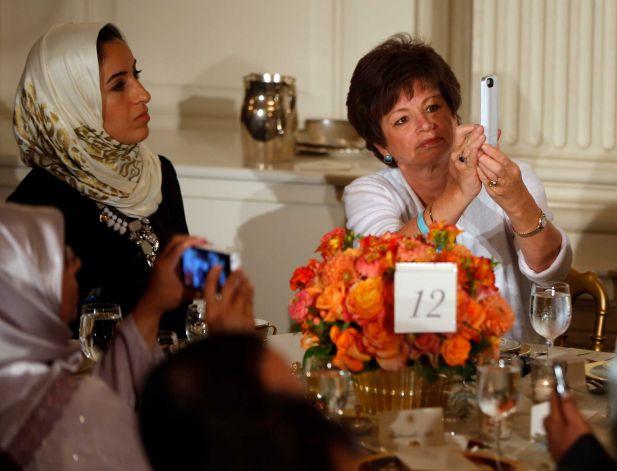 بعض الحاضرين في حفل إفطار البيت الأبيض