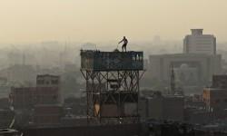 Pigeons on Cairo's skyline