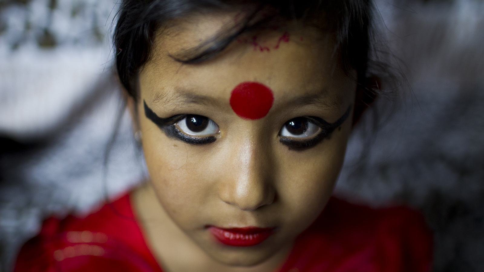 Nepal newly appointed Living goddess in Patan