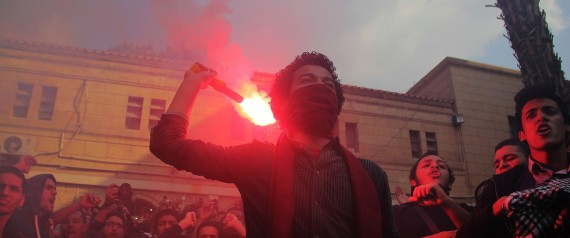 Anti-coup Egyptians stage demonstrations in Giza, Egypt