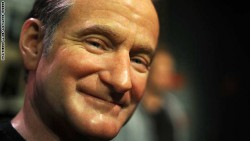 A wax figure of actor Robin Williams is