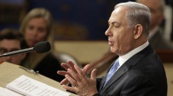 Israeli Prime Minister Netanyahu addresses a joint meeting of the U.S. Congress at the Capitol in Washington