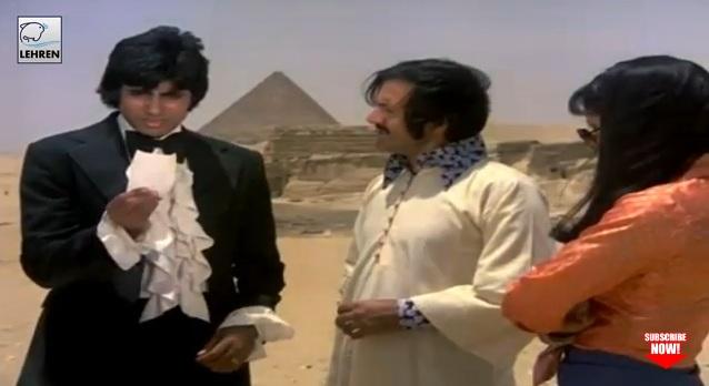 """لقطة من فيلم """"المقامر الكبير"""" الذي صوره أميتاب باتشان في مصر في السبعينيات"""