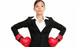 Business-Woman-with-Boxing-Gloves