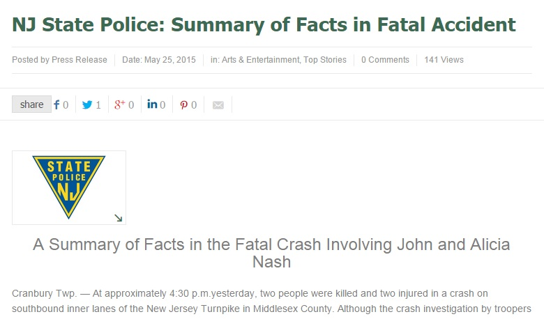 جزء من تقرير الشرطة