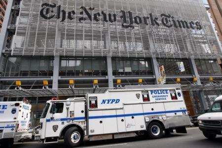 مقر نيويورك تايمز في نيويورك. أرشيف رويترز