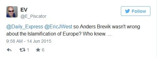 إذاً أندرس بريفيك لم يكن خاطئاً حول أسلمة أوروبا؟ من كان يعلم..
