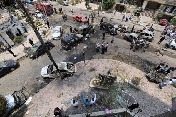 من الانفجارالذي أودي بحياة النائب العام هشام بركات