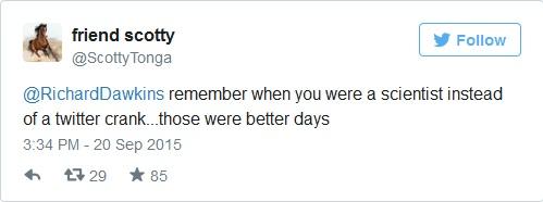 اتذكر عندما كنت عالماً بدلاً من مستخدم نكدي لتويتر.. تلك كانت أياماً أفضل