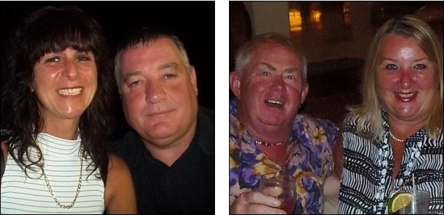 الضحايا: جين وستيفان بور، على اليسار، يريدون استعادة ال 66 ألف جنيه إسترليني، بينما راي وتيريزا فارلي، على اليمين، خسرا 51,500 إسترليني.