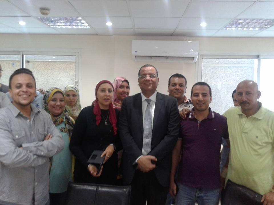 محمود مسلم في صالة تحرير الوطن - صورة من سلامة عامر