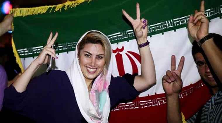 أرشيفية - من احتفالات الإيرانيين بتوقيع الاتقاق النووي الإيراني