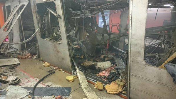 تفجير مترو بروكسل