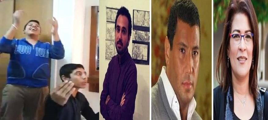 فاطمة ناعوت وإسلام بحيري وأحمد ناجي وأطفال المنيا المحكومين بازدراء الأديان