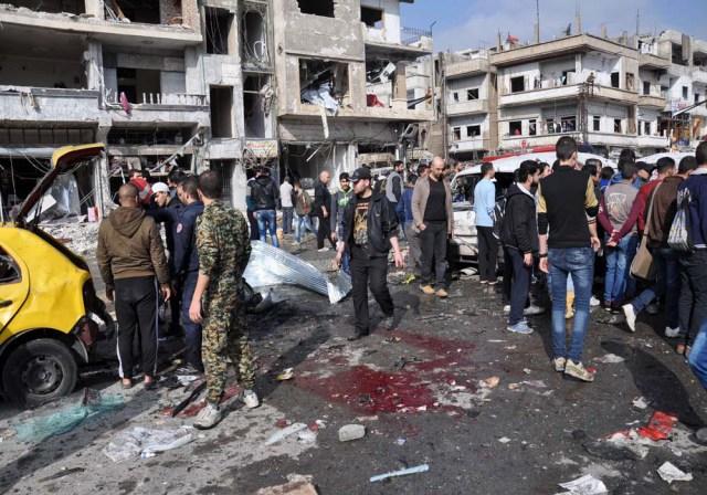 صورة انفجار في سوريا - أرشيفية