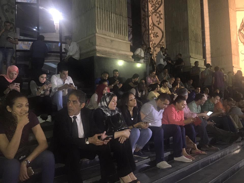 اعتصام الصحفيين أمام مقر نقابتهم