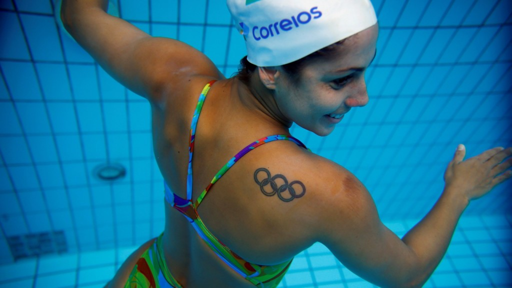 """Brazil's synchronised swimmer Lara Teixeira poses for a photograph after a training session at the Maria Lenk Aquatic Centre in Rio de Janeiro, Brazil, May 20, 2016. REUTERS/Pilar Olivares  SEARCH """"SYNC SWIM"""" FOR THIS STORY. SEARCH """"THE WIDER IMAGE"""" FOR ALL STORIES - RTX2HCMN"""