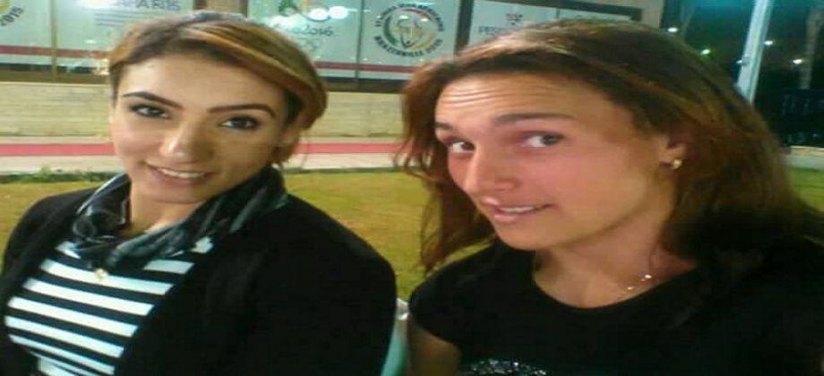 """سمر عاصم وإيناس حروشيد تشاران في منافسات المصارع الحرة- الصورة من """"الفجر"""