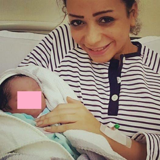 صورة نشرتها هدير أول أمس لطفلها