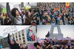 Crowds gather on Jackson Boulevard for the Women's March On Chicago on Saturday, Jan. 21, 2017. (John J. Kim/Chicago Tribune via AP)           NYTCREDIT: John J. Kim/Chicago Tribune, via Associated Press
