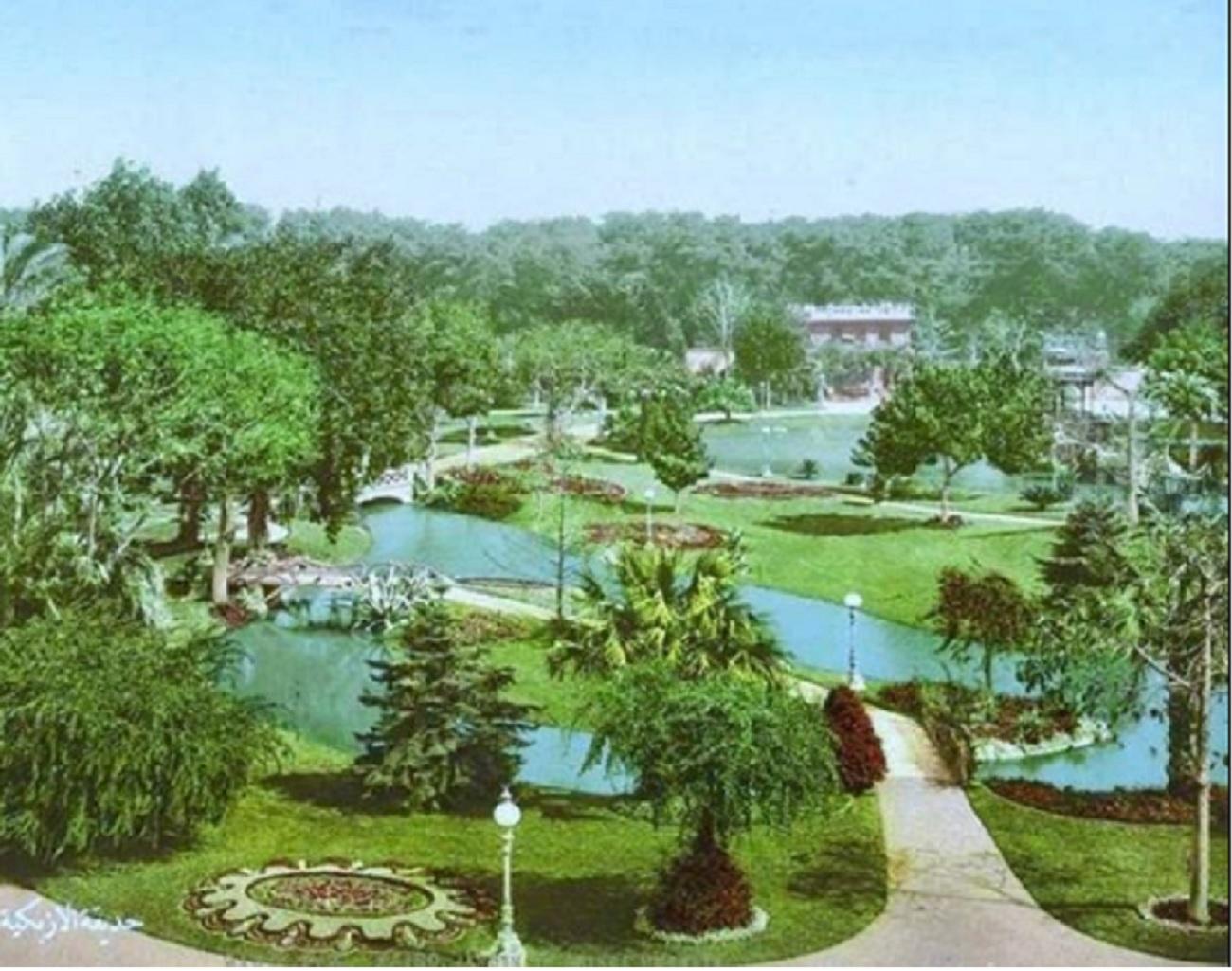 لقطة لحديقة الأزبكية من سنة 1896