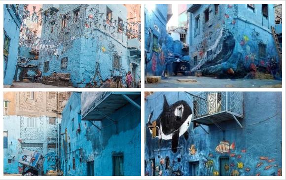 صور إزالة جرافيتي الحطابة أزمة جديدة تلاحق إعلان بنك مصر زحمة